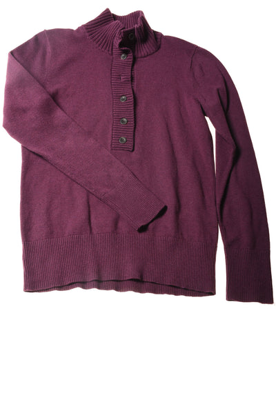 USED Eddie Bauer Women's Sweater Purple Large