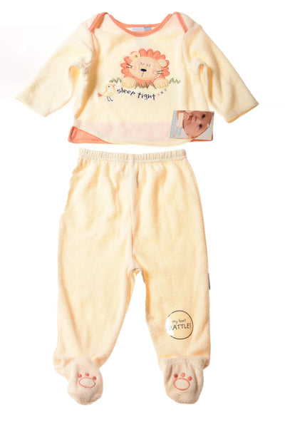 NEW Vitamins Baby Baby Boy's 2pc Pajamas 6-9 Months Ivory