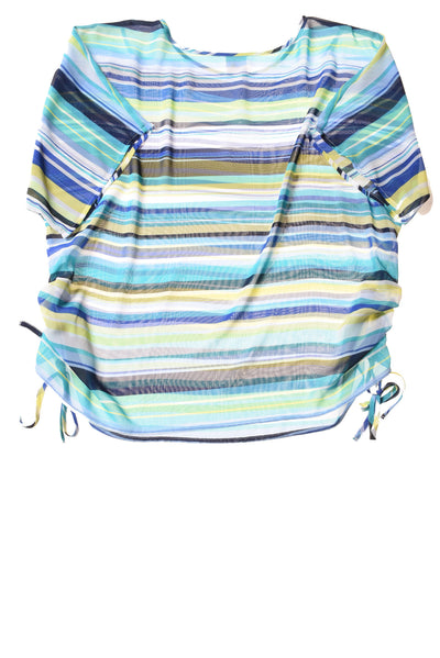USED JM Collection Women's Top Large Multi-Color