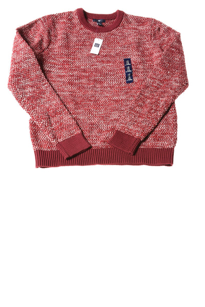 NEW Gap Men's Sweater Small Maroon & White
