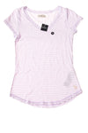 NEW  abercrombie Girl's Top Medium Lavander & White