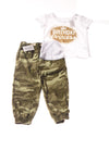 NEW The Children's Place Toddler Girl's 2Pc Outfit 3T White & Green