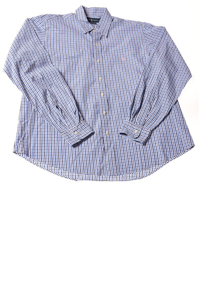 USED Ralph Lauren Men's Shirt X-Large Multi-Color