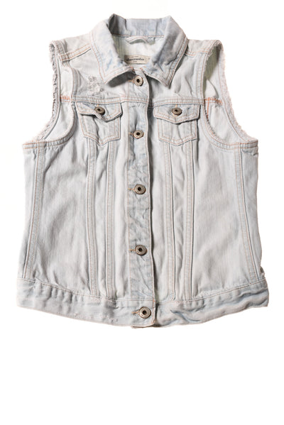 USED abercrombie kids Girl's Vest X-Large Blue