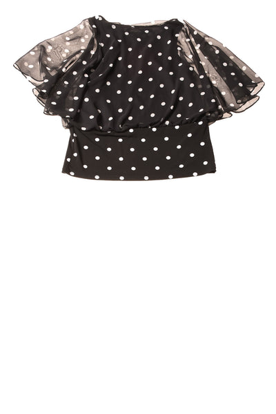 USED Coco Bianco Women's Top Small Black & White