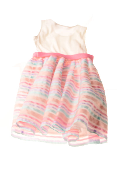 USED The Children's Place Girl's Dress 7/8 Multi-Color