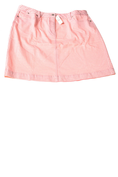 NEW Talbots Women's Skirt 16 Pink & White