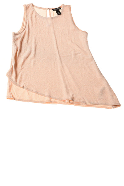 USED White House Black Market Women's Top Small Blush