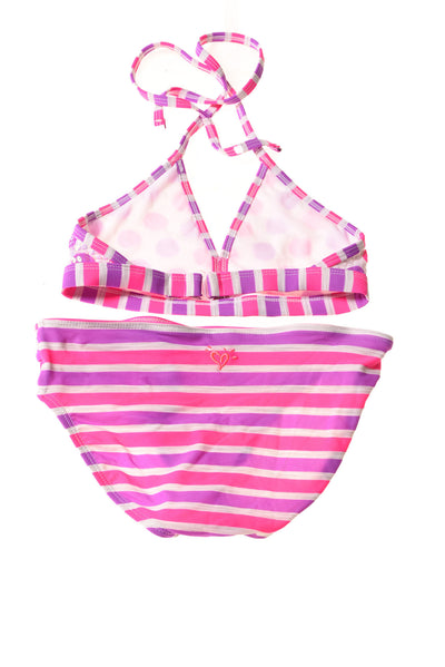 USED Justice Girl's Swimsuit 8 Pink & Purple
