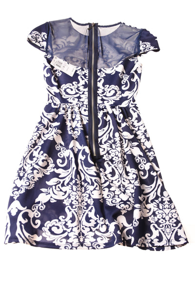 NEW B-Darlin Women's Dress 0 Blue & White