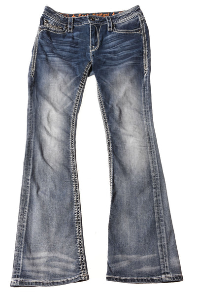 USED Rock Revival Women's Jeans 28 Blue