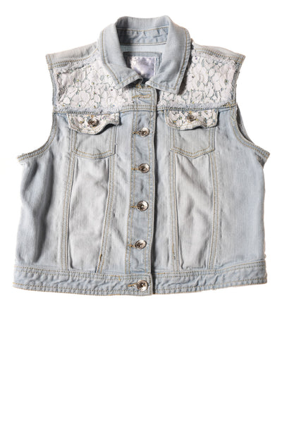 USED Justice Girl's Vest 14 Blue