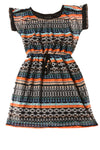 USED City Triangle Women's Dress Small Multi-Color Striped Print