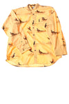 USED Columbia Men's Shirt X-Large Yellow / Print