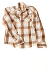 USED Hollister Men's Shirt Small Brown / Plaid