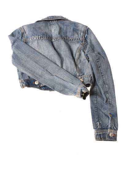 USED Highway Jeans Women's Jacket Small Blue