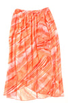 USED Zac & Rachel Women's Skirt 12 Orange / Print