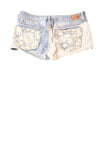 USED American Eagle Outfitters Women's Shorts 2 Blue / Floral Lace