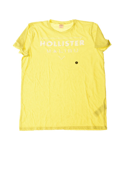 USED Hollister Men's Shirt Large Yellow