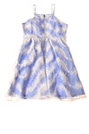 USED Louche Luxe Women's Dress 10 Blue & White / Print