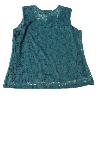 NEW Croft & Barrow Women's Top Large Teal