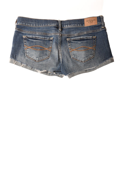 USED abercrombie Women's Shorts 0 Blue