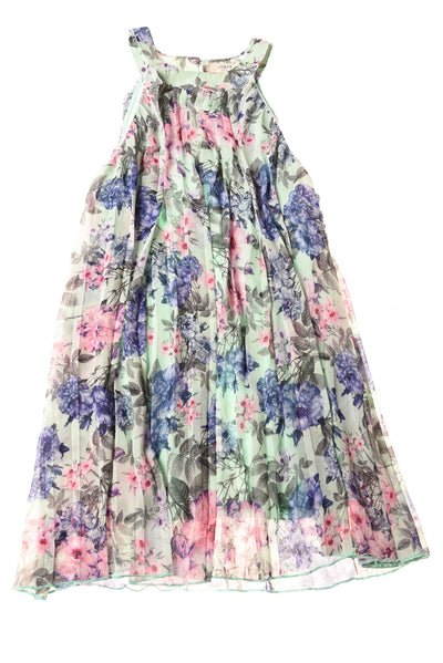 USED Umgee Women's Dress Medium Green / Floral Print