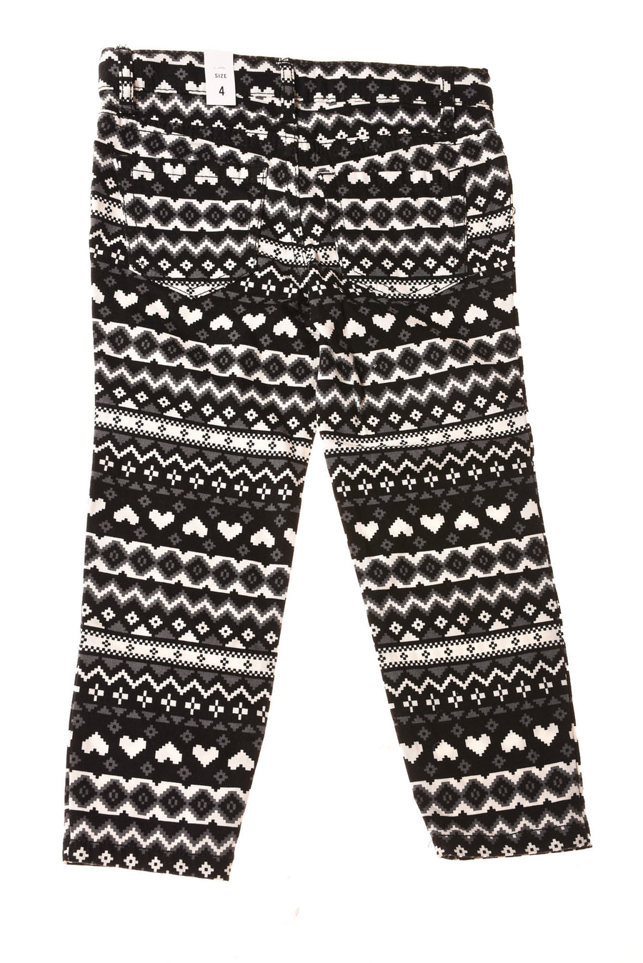 NEW The Children's Place Toddler Girl's Baby Jeans 4 Black / Print