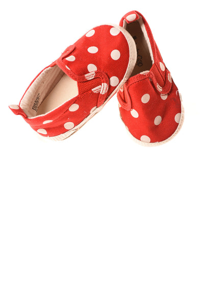 USED Baby Gap Baby Shoes 6-12 Months Red / Polka Dots