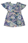 USED Daisy Fuentes Women's Top Small Multi-Color / Print