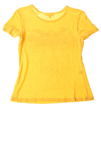 USED Express Women's Top Small yellow