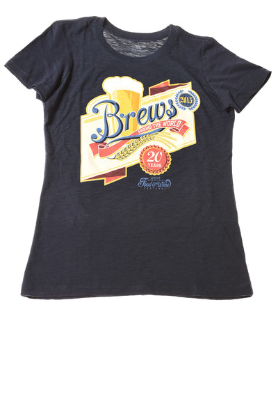 USED Disney Parks Women's Top Small Blue