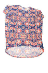 USED Lula Roe Women's Top Medium Blue / Floral