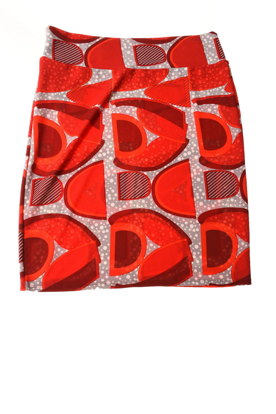 NEW Lula Roe Women's Skirt 3XL Red & Gray / Print