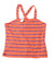 NEW The Children's Place Girl's Top X-Large Orange / Striped