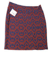 NEW Lula Roe Women's Skirt 3XL Blue & Red / Print