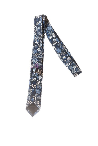NEW Express Men's Tie N/A Blue / Floral Print