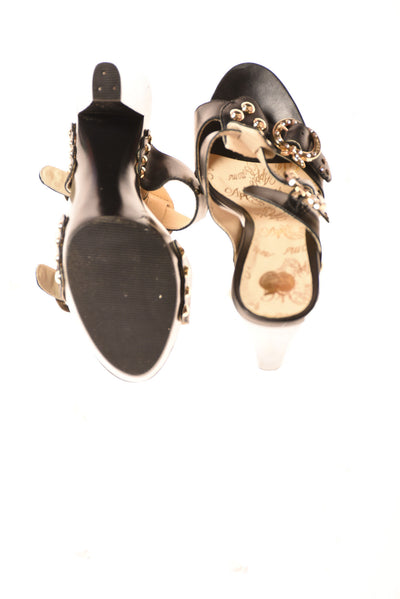 USED Apple Bottoms Women's Shoes 8 Black & Gold