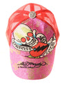 USED Ed Hardy Women's Hat One Size Red&Pink/Print