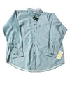 NEW Haggar Men's Shirt Medium Topaz