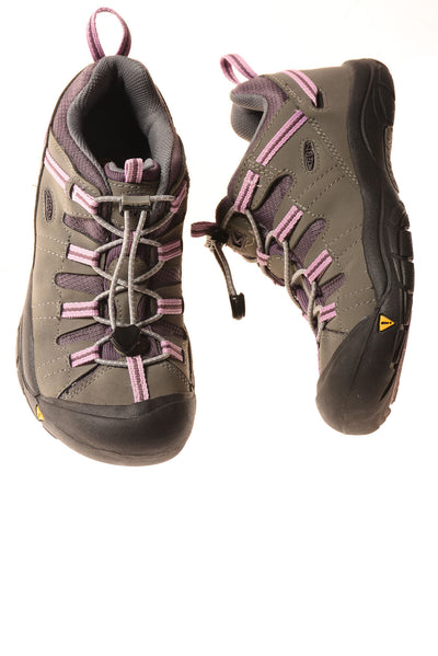 USED Keen Girl's Shoes 4 Gray & Purple