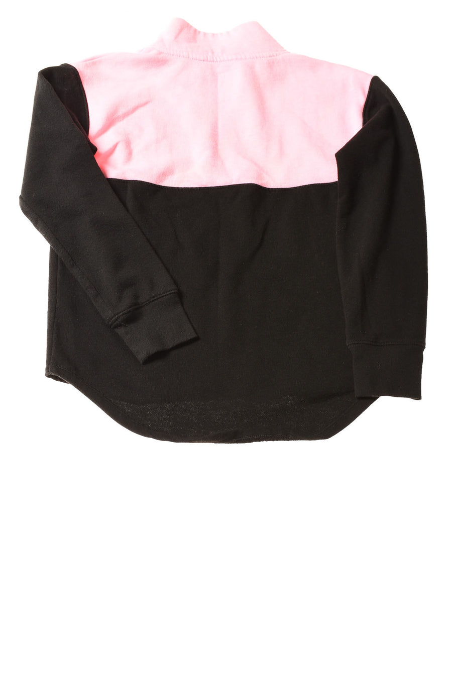 USED Justice Girl's Top 8 Black & Pink