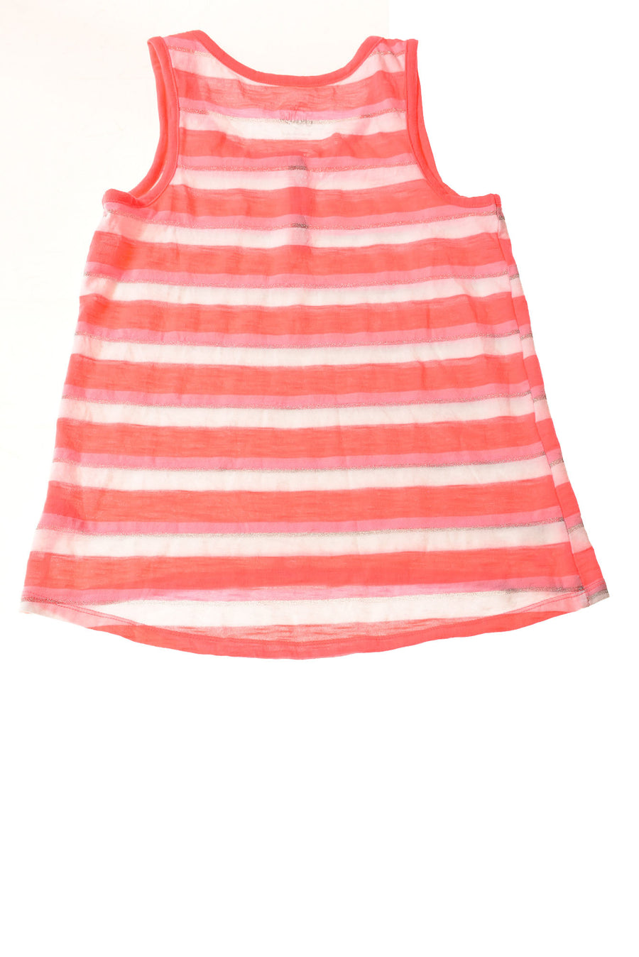USED Justice Girl's Top 12 Pink & White