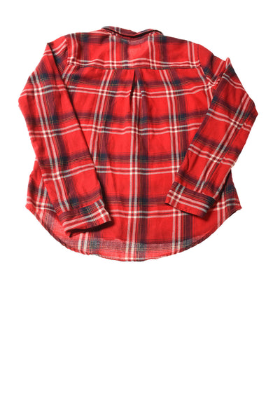 USED Hollister Women's Top Medium Red / Plaid