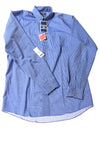 NEW Dockers Men's Shirt Medium Blue / Striped