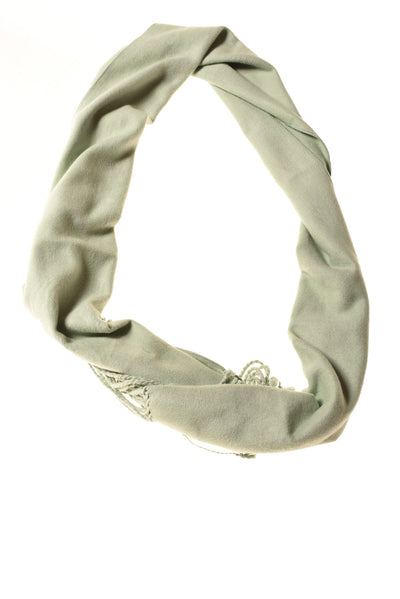 USED Pure Bamboo Women's Scarf One Size Green