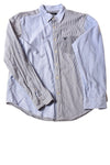 USED American Eagle Men's Shirt Large Blue / Striped
