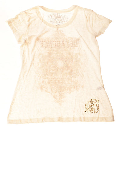 USED Express Women's Top Small Cream