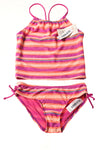 NEW Old Navy Girl's Swimsuit Medium Peach & Purple / Stripes