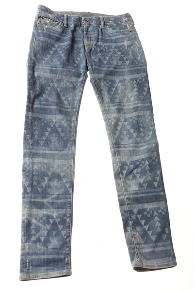 USED Ralph Lauren Women's Jeans 30x32 Blue/Print